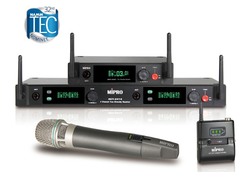 MIPRO ACT-2400 2.4GHz radio microphone transmitters and receivers