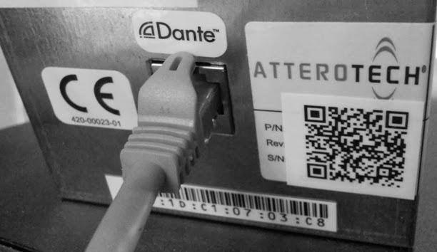 Attero Tech Dante Networking Port