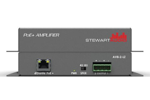 Stewart Audio Introduces 2 Channel Dante Poe Amplifiers