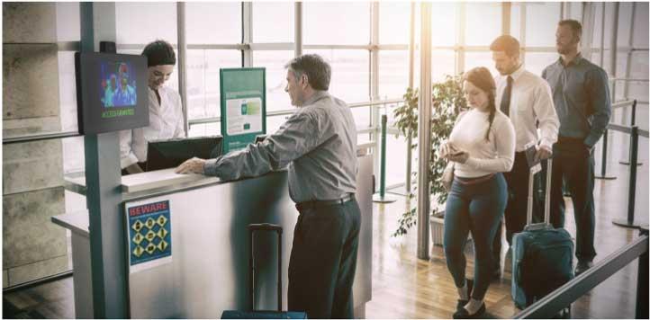 Temperature screening at airport