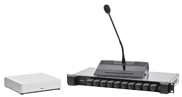 Televic Confidea G4 FLEX wireless conference microphone system with Touchscreen